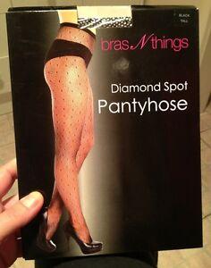 Brand-New-Bras-N-Things-Diamond-Spot-Pantyhose-Tall