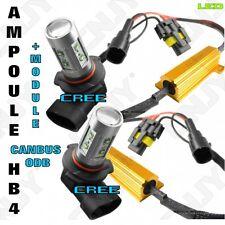 2 AMPOULE ANTI BROUILLARD 50W CREE LED HB4 BLANC + ANTI ERREUR DEFAUT ODB CANBUS