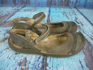 Keen-Cush-Canvas-Mary-Jane-Sandals-Shoes-Women-039-s-Size-7