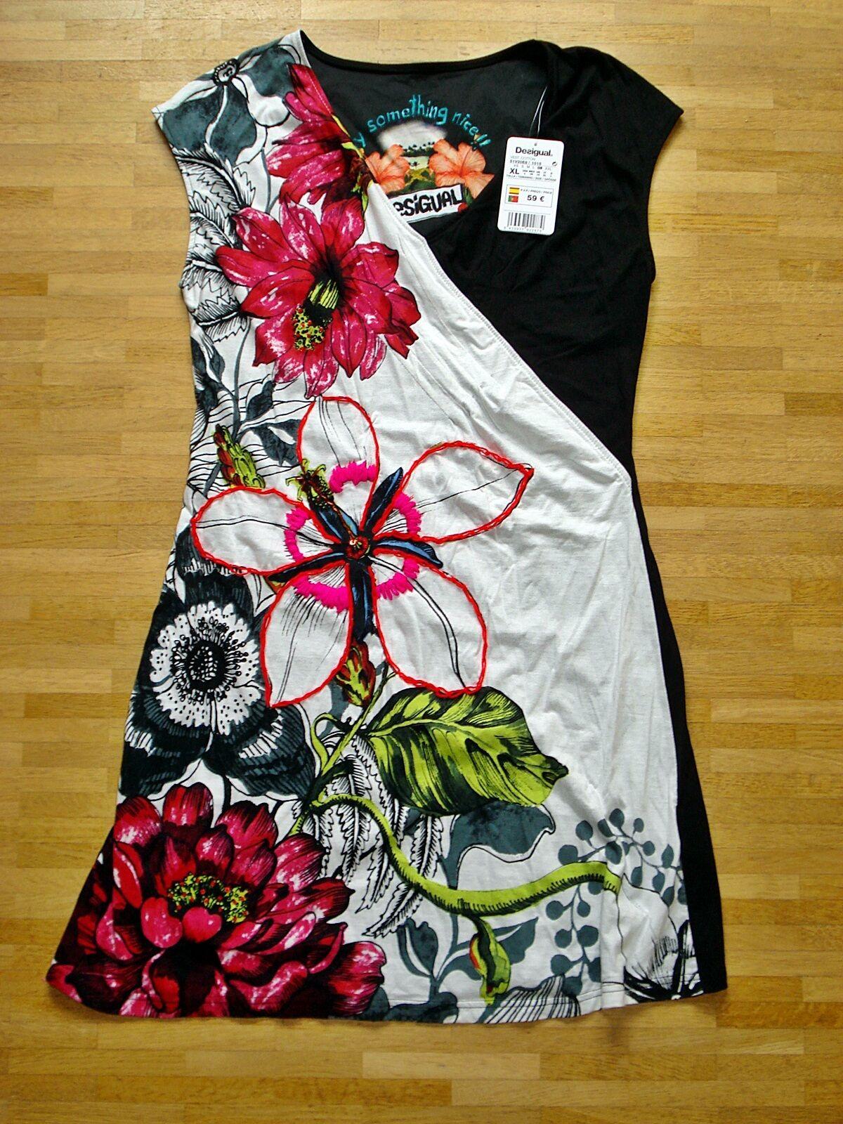 DESIGUAL Kleid Gr. XL Cotton Ecru Style 51V20E8
