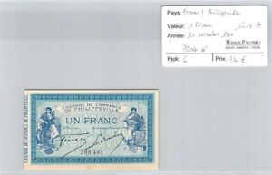Billet France - Chambre De Commerce Philippeville - 1 Franc - 10 Novembre 1914 Ocyaysxq-07224123-653342432