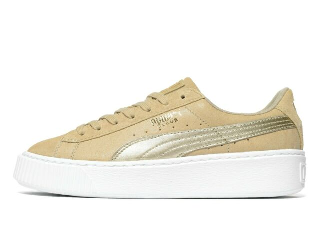 Günstige Puma Plateau Suede Platform Safari Grau Sneaker