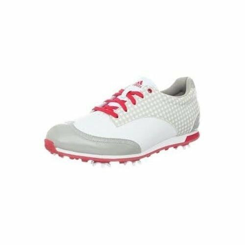 NWB Adidas Ladies Driver Grace Golf Cleat Shoe White Pink US 11 M