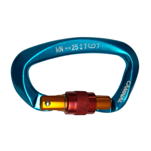 Aluminium D Ring Schnalle, Hochleistungs Kletterkarabinerhaken 25KN
