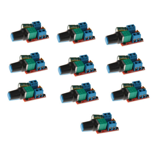 10 Stück Mini Gleichstrommotor PWM Drehzahlregler   3V 6V 12V 24V 35VDC 90W 5A
