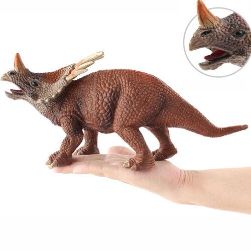 "13/"" Jurassic Styracosaurus Triceratops Dinosaur Toy Model Collector Decor Gifts"