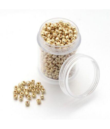 1600 pièces Perles de rocaille rondes iris round 2,5 mm
