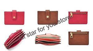 Fossil Women/'s Mini Wallet Mini Tab Leather Wallet