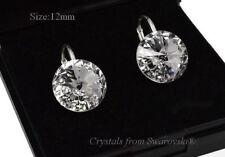 925 Sterling Silver Earrings Crystal (Clear) Rivoli Crystals from Swarovski®