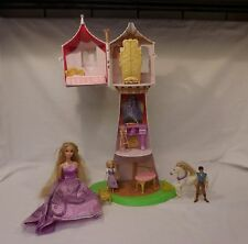 Disney Tangled Tower Rapunzel Castle Playset Flynn Maximus + Accessories Lot