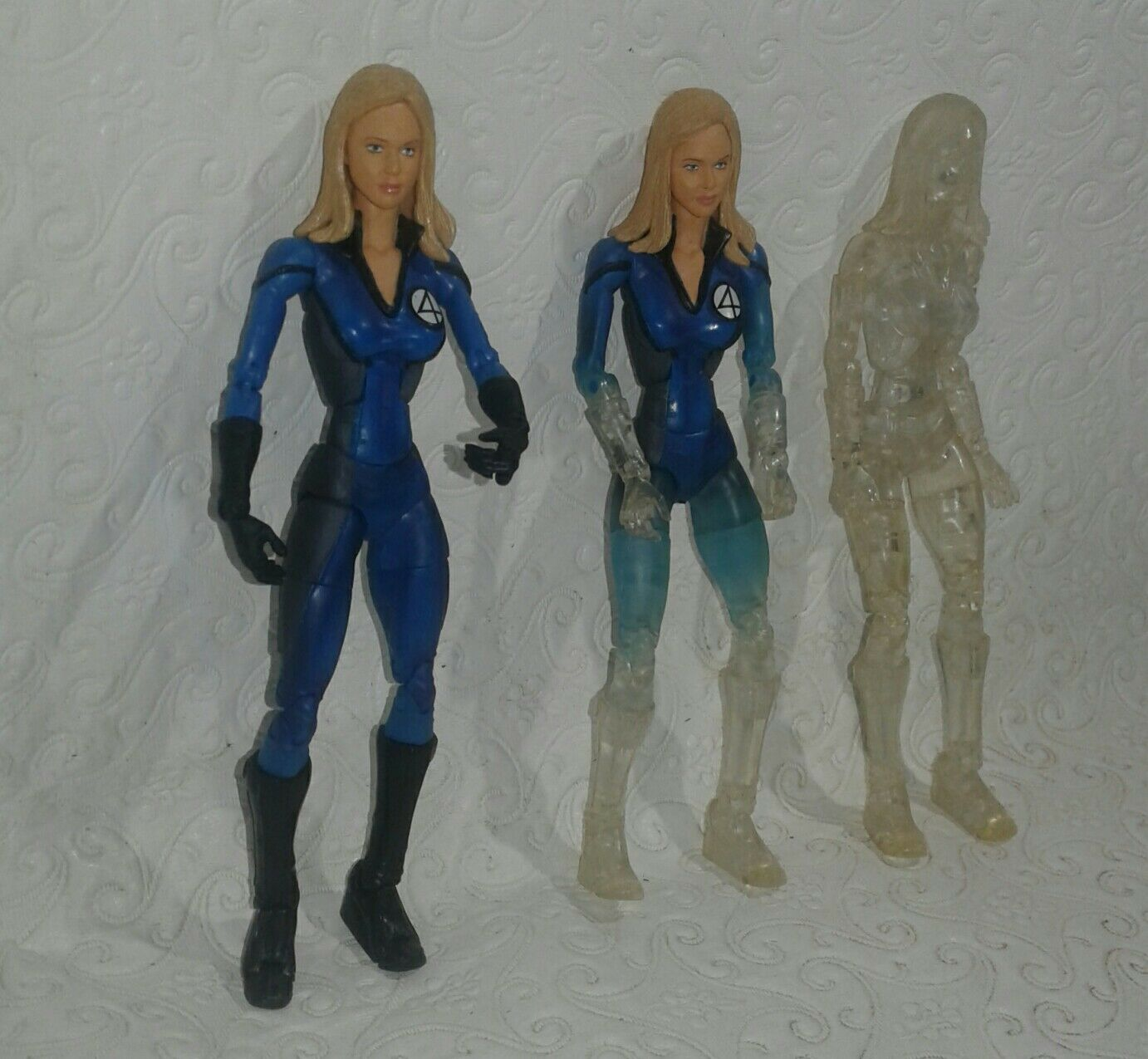Marvel Toybiz Fantastic 4 Invisible Damens× 3 Sue Storm visibleinvisible
