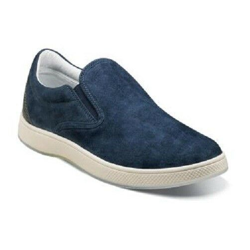 Florsheim Summer Mens shoes Edge Double Gore Slip On Navy bluee 14224-410