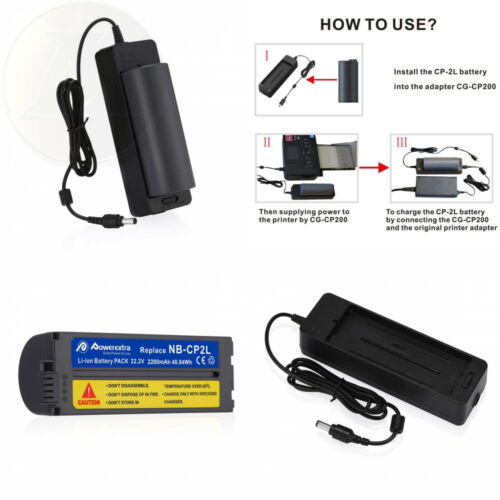 Powerextra Battery and Charger for Canon NB-CP2LH NB-CP2L NB-CP1L,...