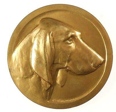 France dog canine award POODLE bronze 50mm