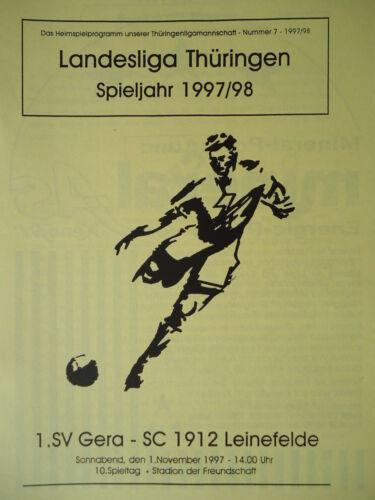 SC 1912 Leinefelde Programm 1997//98 SV Gera