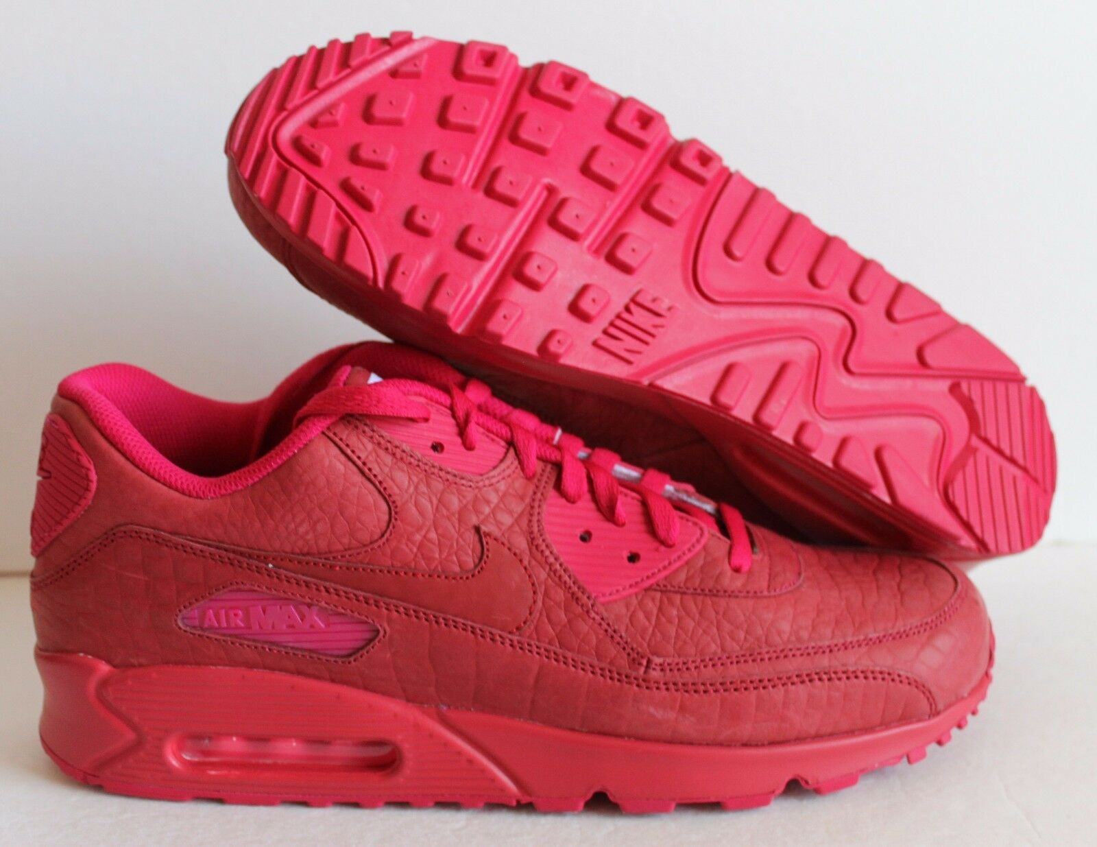 Nike air max 90 uomini coccodrillo premio stampa id red-pink sz 13 [708279-991]