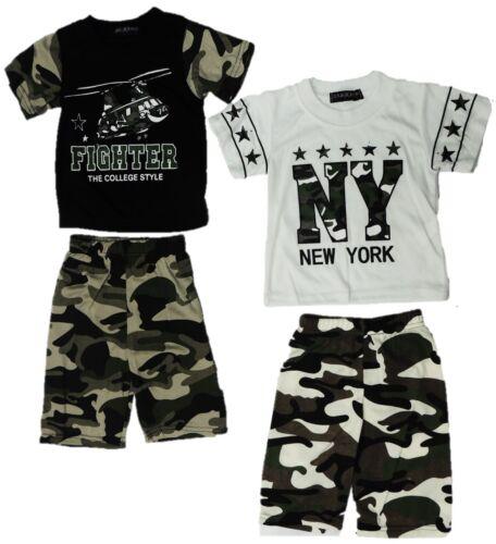 2er Pack Baby Jungen Anzug Set Shirt Hose camouflage 68 74 2 Teiler ANGEBOT