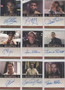 Battlestar Galactica Season 2 Autograph Auto Card Selection
