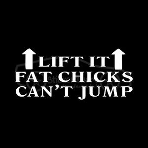 LIFT-IT-FAT-CHICKS-CAN-039-T-JUMP-Sticker-Car-Truck-Stance-Lifted-Funny-Decal-Joke