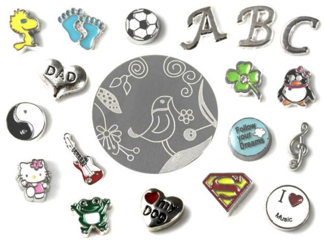 * Floating Charms * Einleger * Strass * Locket * verschiedene Designs *