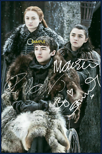 4x6 Signed Autograph Photo Reprint Of Game Of Thrones Cast Ebay