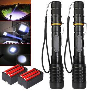 Tactical-Police-350000Lumens-T6-LED-5Modes-18650-Flashlight-Aluminum-Focus-Torch