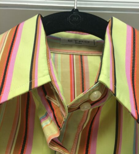 elástico larga de con largas algodón de rayas manga Camisa Etro de 44 mangas Sro de M gSCqAw