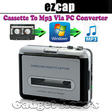 EZCAP Walkman Audio Cassette Tape Player to MP3 Converter Via USB