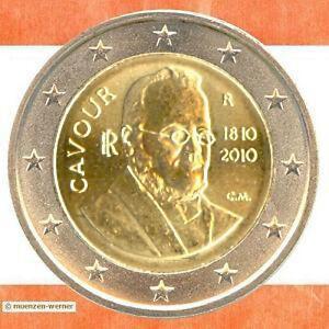 Sondermünzen Italien 2 Euro Münze 2010 Cavour Sondermünze Zwei
