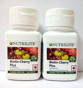 Amway-Nutrilite-Biotin-Cherry-Plus-counts-Pack-of-2-2X60-counts
