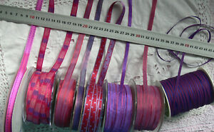 HOT-PINK-amp-PURPLE-Tones-4-6-10-amp-13mm-Wide-2-3-amp-5-Metres-9-Design-Style-Choice