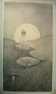 PRINTS-SILVER-POINT-FAIRY-ALL-FORLORN-CHARLES-SAINTON-PUB-BROOK-ST-GALLY-C1912