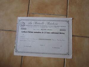 la-mutuelle-Maichoise-siege-sociale-a-Maiche-doubs-certificat-d-039-action-de-25-f