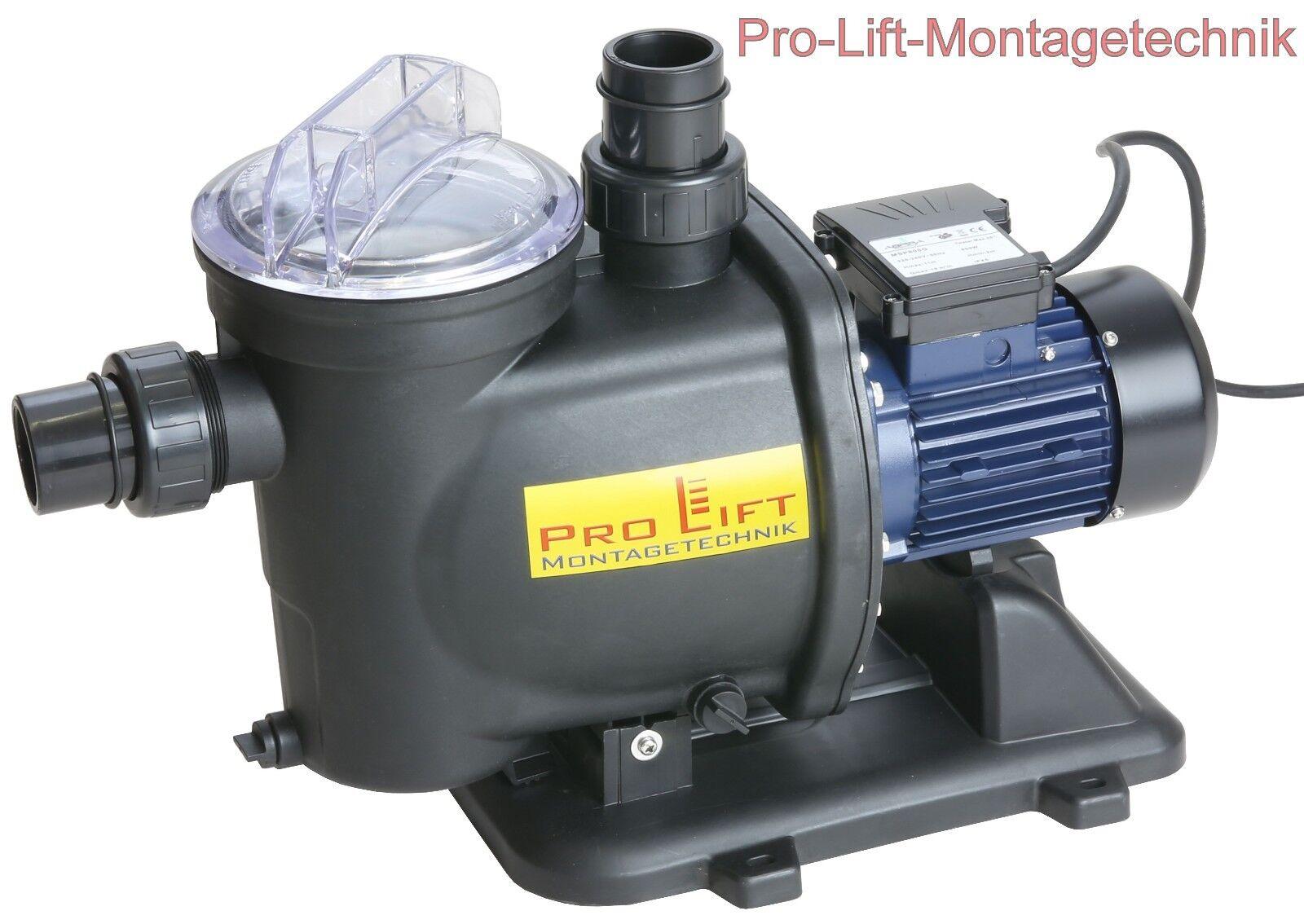 800W Wasserpumpe Schwimmbadpumpe Bewässerungspumpe 19m³ h Pumpe  MSP800GJ  02277
