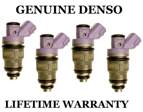 Genuine Denso Set Of 4 Fuel Injectors For Toyota Previa 2.4L 91 92 93 94 95