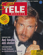 TELE MAGAZYN 92/37 (11/9/92) HARRISON FORD BECAUD DELON BARRYMORE DREW MOORE