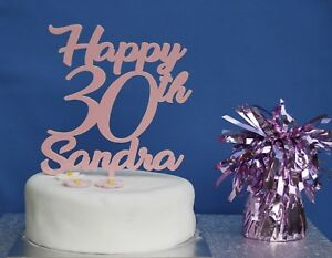 Image Is Loading PERSONALISED Happy Birthday Cake Topper Any Age Coloured