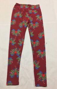 Lularoe Christmas Leggings.Details About Women S Lularoe Christmas Holiday Soft Knit Leggings One Size Bows Mistletoe