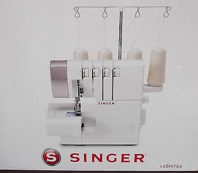 SINGER Sewing Machine Overlock Model 14SH754 2/3/or 4 thread (NEW) In Box