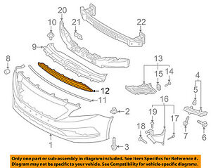 image is loading hyundai-oem-16-17-sonata-front-bumper-lower-