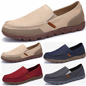 Mens-New-Slip-On-Casual-Boat-Deck-Mocassin-Wide-Fit-Loafers-Driving-Shoes-Size