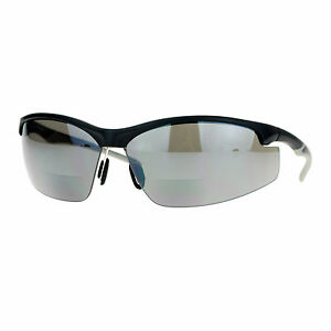 About Sunglasses Details Magnified Uv Bifocal Black Half Frame 400 Lens Rim Wrap Sports N8nw0OXZPk