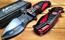 MTECH FIRE FIGHTER SPRING ASSIST KNIFE RESCUE TACTICAL POCKET FOLDING BLADE 944F
