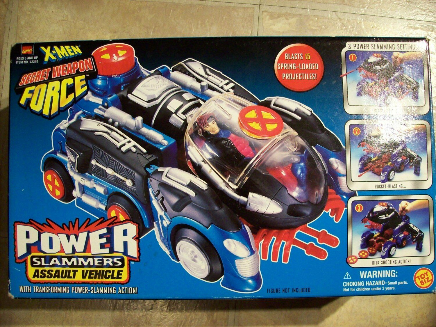 X-Men Secret Weapon Power Slammers Assault Vehicle New