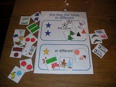 100% Vero Lo Stesso O Differente Board Game Divertente Ed Educativo Autismo / Necessità Particolari-mostra Il Titolo Originale Squisita (In) Esecuzione