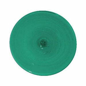 """4 inch Round Krosnos Mouthblown Glass Rondel 4"""" Teal Green 62656"""