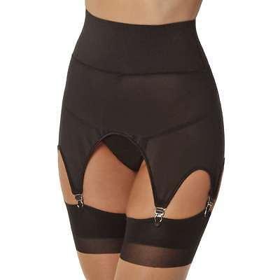 Sexy Vintage Look Stretch Girdle Garter Belt - S/M - Black, New