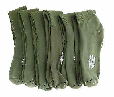 Military Issue Anti-Microbial Boot Socks Olive Drab Calf Length Pair or Lot