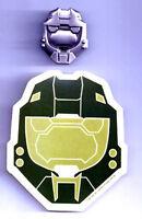 Halo 3 War Game Pewter Soldiers Helmet 1.75 Pin & Sticker Set Of 2