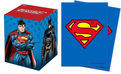 Ultra Pro Justice League Deck Box PLUS Superman 65ct Sleeves Combo BRAND NEW!!